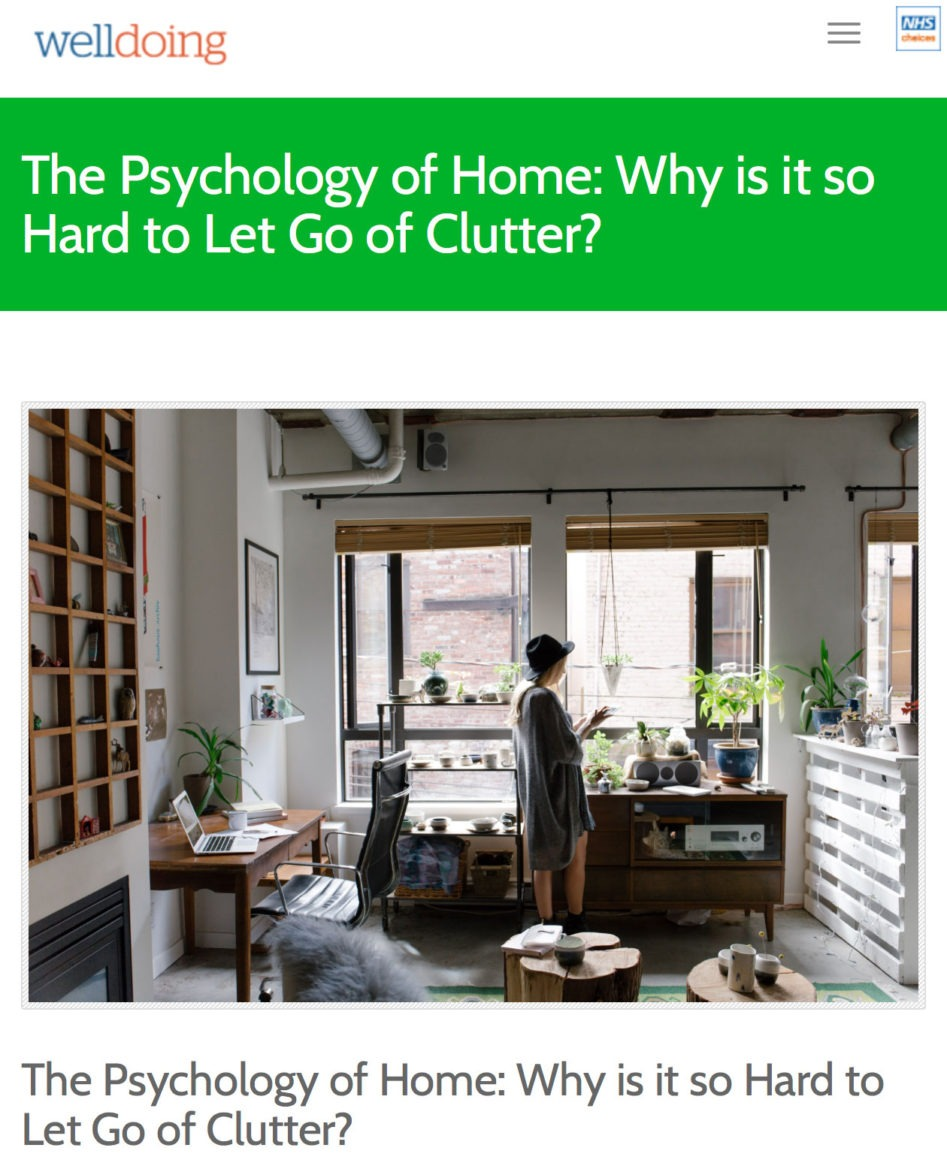 Article on clutter on welldoing.org