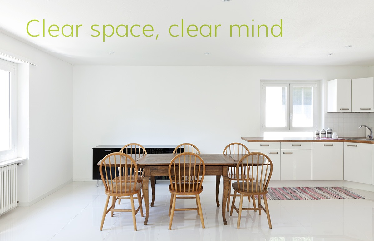 Help to create a clear space and clear mind with our decluttering services for your home
